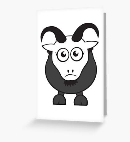 Grover The Goat in Grey Greeting Card