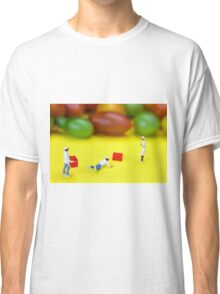 Chef Tumbled In Front Of Colorful Tomatoes miniature art Classic T-Shirt