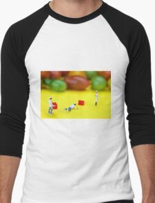 Chef Tumbled In Front Of Colorful Tomatoes miniature art Men's Baseball ¾ T-Shirt