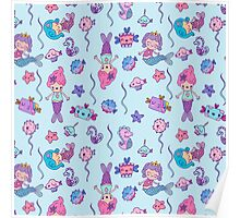 CUTE MERMAID BIRTHDAY PARTY Poster