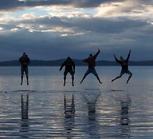 Four Leaping Friends by Sboydston