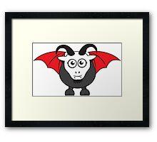 Vampire Grover Goat Framed Print