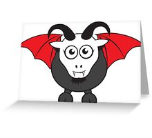 Vampire Grover Goat Greeting Card