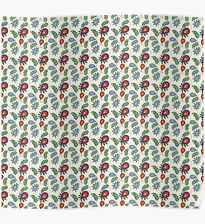 Colourful Leafy Pattern Poster