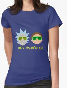 Rick and Morty - Get Schwifty Womens Fitted T-Shirt
