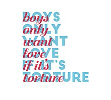 boys only want love Photographic Print