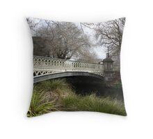bridge christchurch Throw Pillow