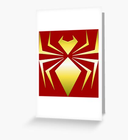 Iron Spider Greeting Card