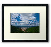 Valley town - Mazamet Framed Print