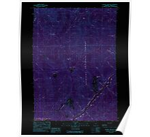 USGS Topo Map Oregon Soldier Camp Mtn 281561 1989 24000 Inverted Poster