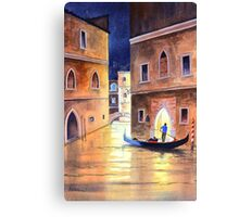 Venice Italy - Evening Gondola Ride Canvas Print