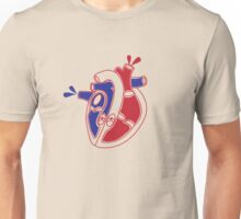 An illustration of a working heart Unisex T-Shirt