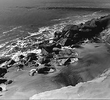 WET ROCKS AT DOCKWEILER BEACH by Paul Quixote Alleyne