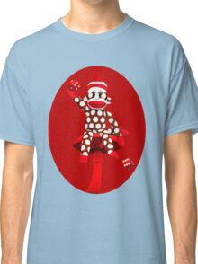 POKA DOT-SOCK MONKEY TROWING DICE-PILLOWS-JOURNAL-TOTE BAG-MUG-BOOKS-TEE SHIRT-ECT.. Classic T-Shirt