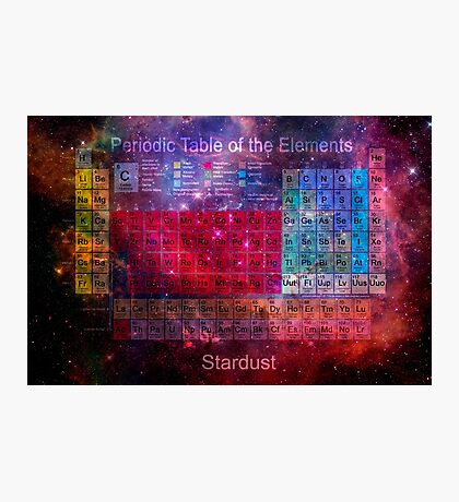 Stardust Periodic Table Photographic Print