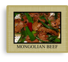 mongolian beef placemat Canvas Print