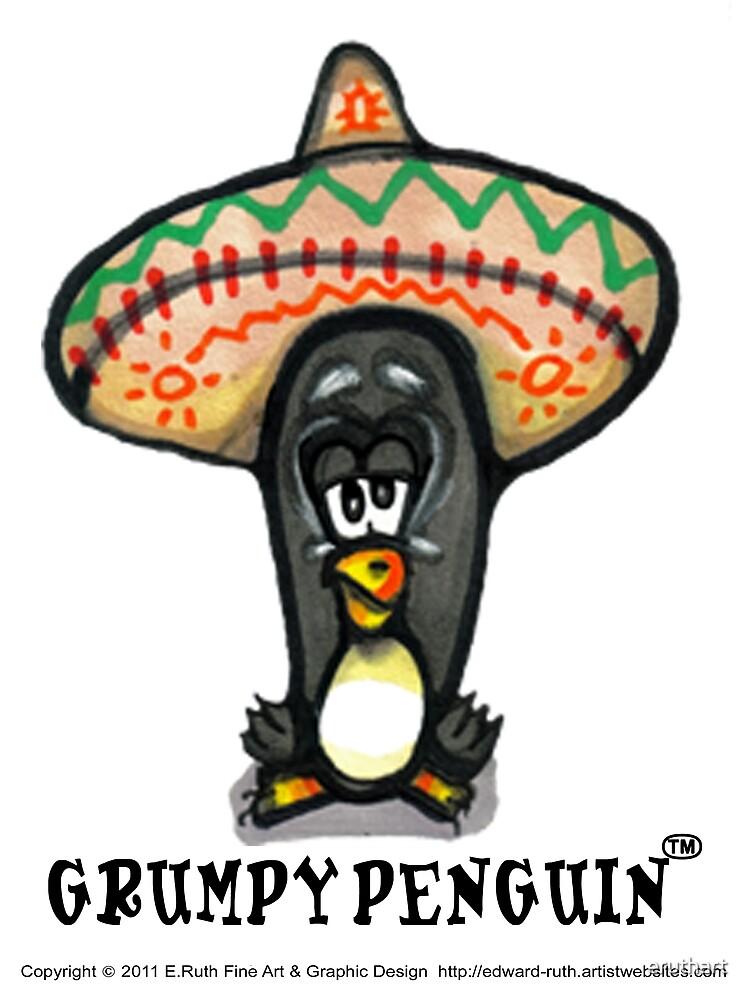 Grumpy Penguin No 8 Paco by eruthart