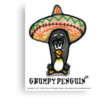 Grumpy Penguin No 8 Paco Canvas Print