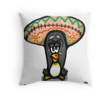 Grumpy Penguin No 8 Paco Throw Pillow