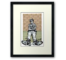 Harold Lloyd One of Those Days Drawing Framed Print