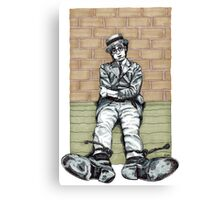 Harold Lloyd One of Those Days Drawing Canvas Print