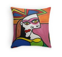 Two Face Throw Pillow