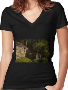 Waterloo Canal Lock Women's Fitted V-Neck T-Shirt