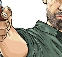 Rick Walking Dead T-Shirt Sticker