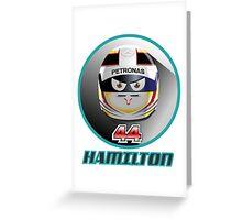 Lewis HAMILTON_2015_Helmet #44 Greeting Card