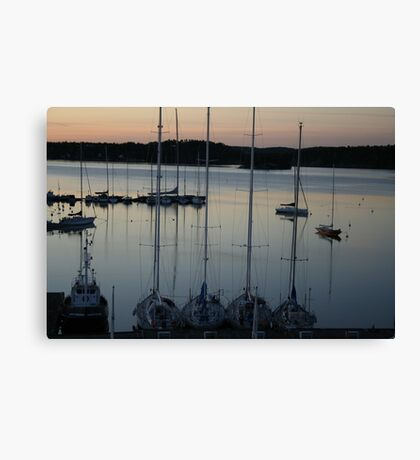 Sweden - boats Canvas Print