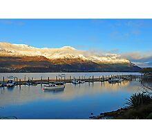 Wanaka at dawn. South Island, New Zealand. Photographic Print