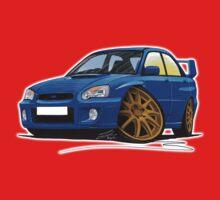 Subaru Impreza (2003-06) Blue One Piece - Short Sleeve