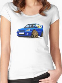 Subaru Impreza (2003-06) Blue Women's Fitted Scoop T-Shirt