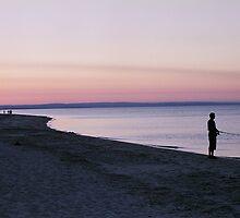 Lone Fisherman by Sboydston