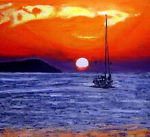 Ibiza Sunset  by gillsart