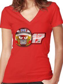 Jules BIANCHI_2014_Helmet Women's Fitted V-Neck T-Shirt