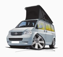 Volkswagen T5 California Camper Van Silver by Richard Yeomans