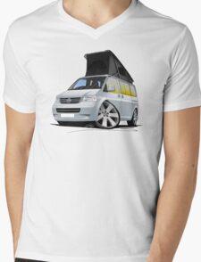 Volkswagen T5 California Camper Van Silver Mens V-Neck T-Shirt
