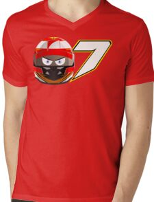 Kimi RAIKKONEN_2014_Helmet Mens V-Neck T-Shirt