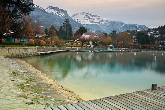 Annecy lake and the Tournette mountain by Patrick Morand
