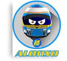 Fernando ALONSO_Helmet 2015 #14 Canvas Print
