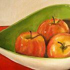 Three Apples by taralewisart