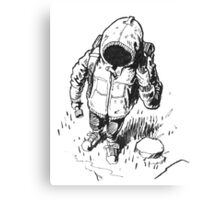 Ink Hooded Hiker Canvas Print