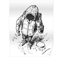 Ink Hooded Hiker Poster