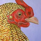 Rooster on Purple by taralewisart