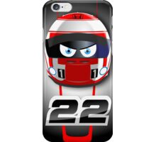 Jenson BUTTON_2014_Helmet #22 iPhone Case/Skin