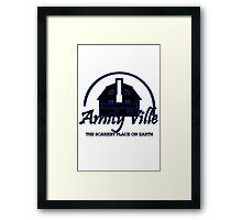 Amityville geek funny nerd Framed Print