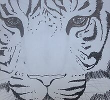 Ink pen tiger sketch by alicat-225