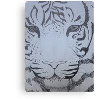 Ink pen tiger sketch Canvas Print