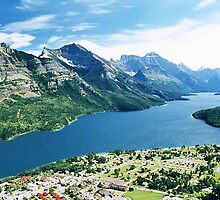 Waterton Township & Upper Waterton Lake, Alberta, Canada by Adrian Paul